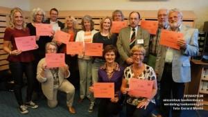 Op dinsdag 21 april 2015, mocht voorzitter Toon van Limpt een cheque van € 1000 in ontvangst nemen uit de opbrengst van de 41e boekenbeurs van de Vincentiusvereniging 's-Hertogenbosch.