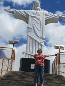 Christusbeeld in Pão de Açúcar. je belooft er een keer terug te keren