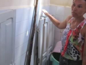 leidster bij afgebroken wc-deurtje