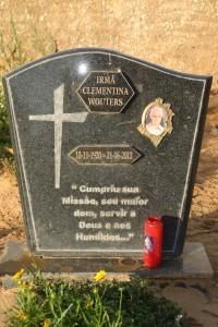 Grafsteen van zuster Clementina